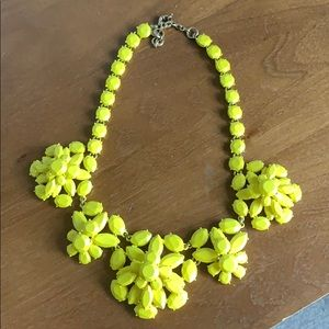 Yellow statement Jcrew necklace